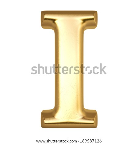 Alphabet from gold. isolated on white.