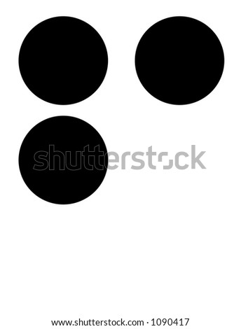 alphabet letter f in braille - stock photo