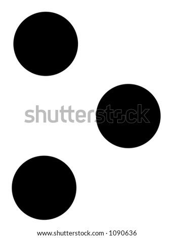 alphabet letter o in braille - stock photo