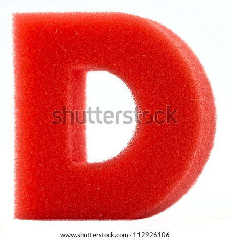 Alphabet Letter sponge on white background