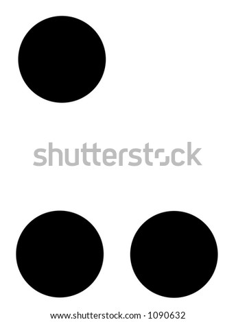 alphabet letter u in braille - stock photo