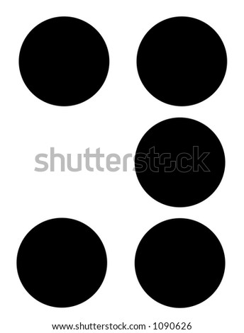alphabet letter y in braille - stock photo