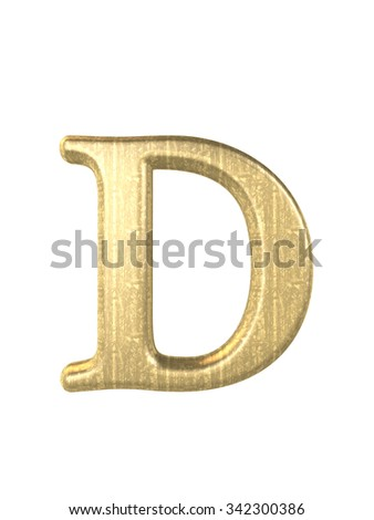 Alphabet letters, isolated on white 3d reder