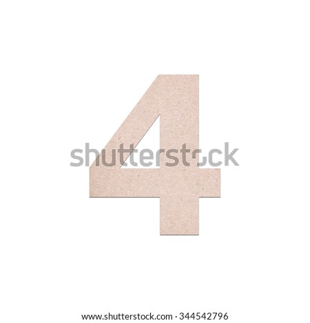 Alphabet letters number from Old paper texture on white background ,For presentation and business