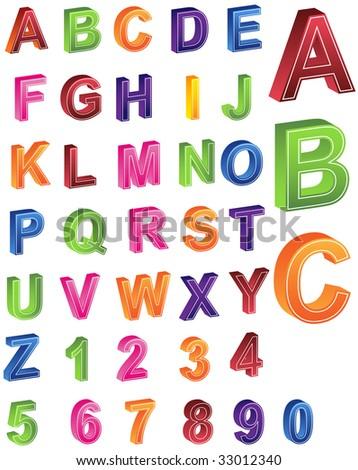 Alphabet Numbers - stock photo