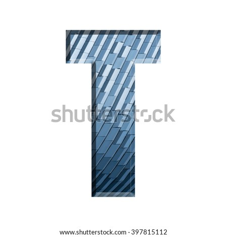 Alphabet on geometric pattern texture isolate on white background