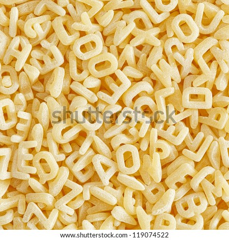 Alphabet pasta - stock photo