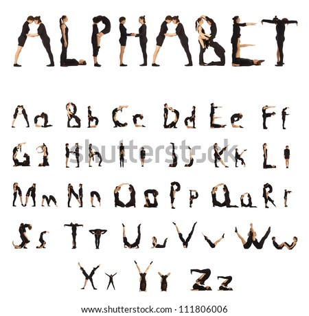 Alphabet People - stock photo