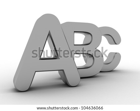 Alphabet  with letters A,B,C - stock photo