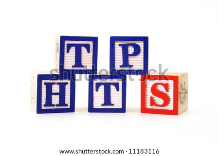 alphabet wood blocks forming the word https - internet security - stock photo