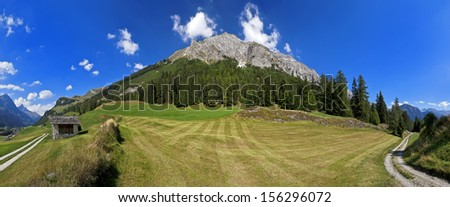 Alpin landscape in Splugen, Switzerland (CH) - stock photo