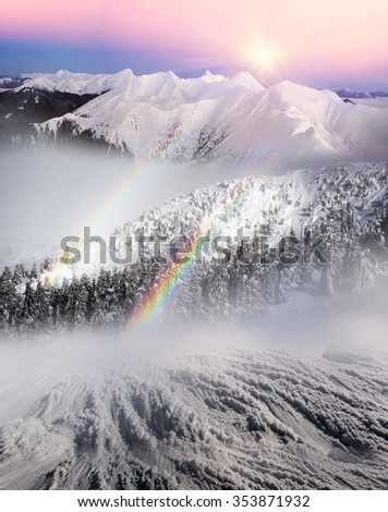 Alpine Heath after a severe bad weather threatening, menacing and frightening. Ukraine Karpaty Montenegrin ridge - the highest peak in the country, a picturesque and beautiful - stock photo