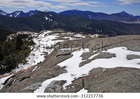 Alpine mountain landscape in the Adirondacks, New York State - stock photo