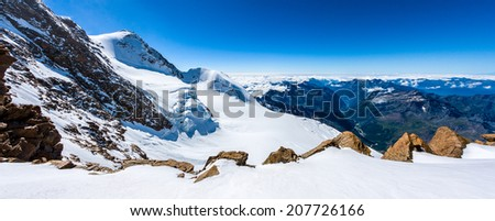 Alpine panorama - stock photo
