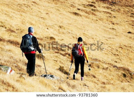 Alpine trekking - autumn colors