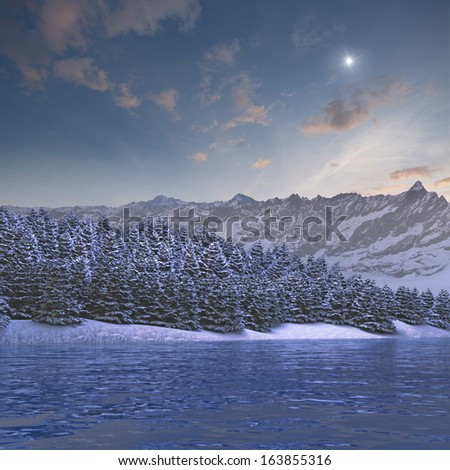Alpine winter landscape
