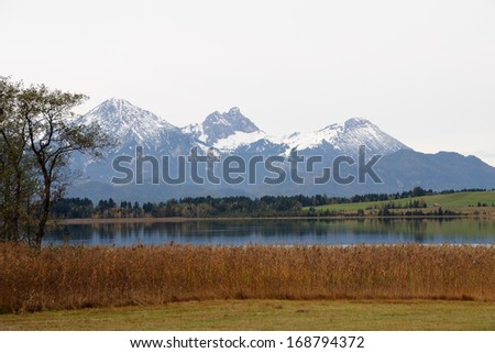 Alps in autumn - stock photo