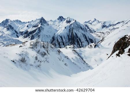 Alps, Italy. Winter - stock photo
