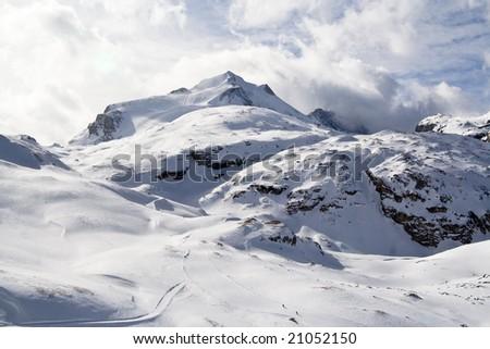Alps. Ski resort Tignes. France - stock photo