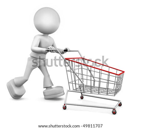 Already go my shop. 3d image isolated on white background. - stock photo
