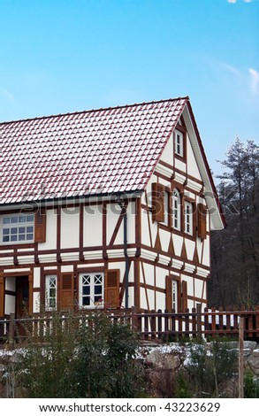 Alsace typical traditional House - stock photo