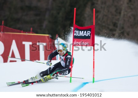Alta Badia, ITALY 22 December 2013. competing in the Audi FIS Alpine Skiing World Cup MEN'S GIANT SLALOM.