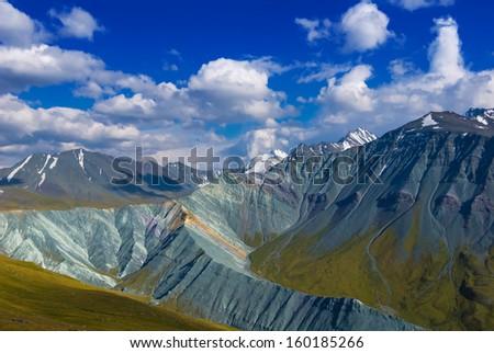 altai mountain scene - stock photo