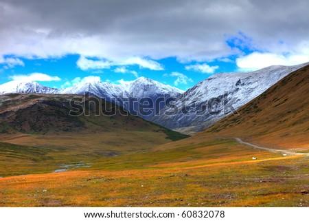 Altai mountains. Beautiful highland landscape. Russia. Siberia - stock photo