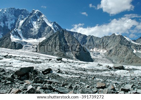 Altai, the Altai Mountains, Akkem glacier