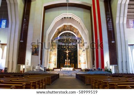 Altar of L'Oratoire St-Joseph church of Montreal - stock photo
