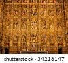 Altarpiece in the Cathedral of Seville (Pierre Dancart's masterpiece), Spain - stock photo