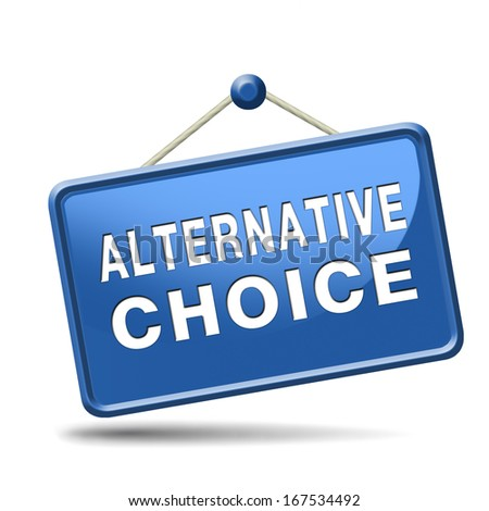 alternative choice choose different option - stock photo