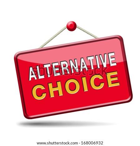 alternative choice choose different option - stock photo
