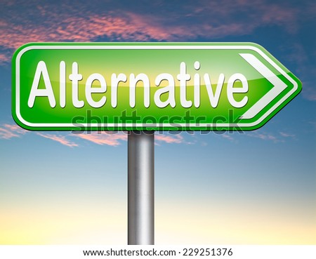 alternative choice, choose different option underground music or movement  - stock photo
