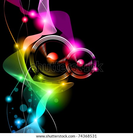 Alternative Disco Flyer for International Music Event - stock photo