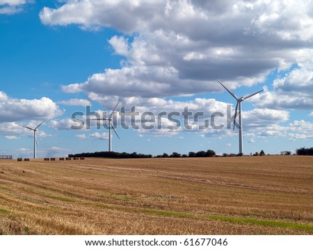 Alternative efficient energy modern turbine wind electricity mill