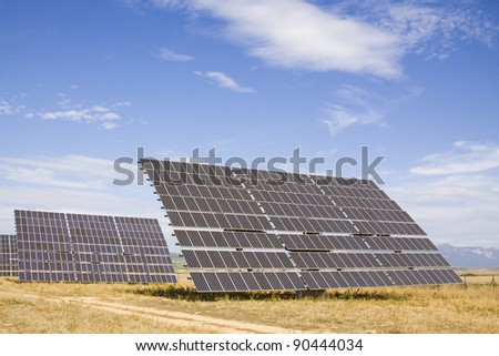 Alternative energy sources. Solar panels.