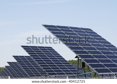 Alternative energy with a field of solar panel field