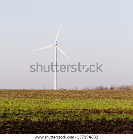 Alternative sources of green energy - wind turbines or wind farms