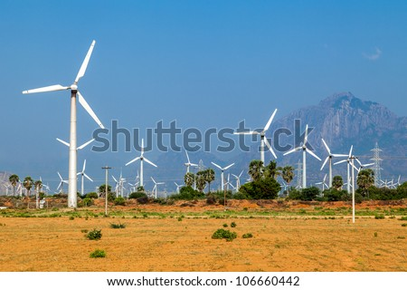 alternative wind energy - stock photo