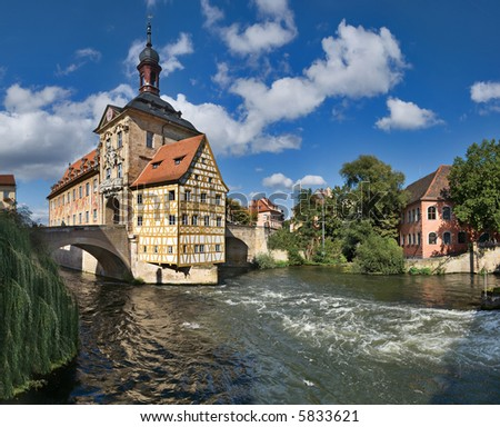 Altes Rathaus (Old Town Hall), Bamberg, Germany - stock photo