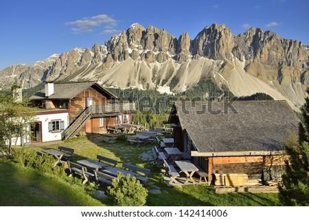 Alto Adige - Mountains Peaks, Plose, Italy, Europe  - stock photo