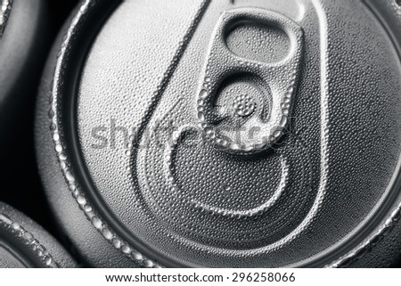 Aluminium can with drink - stock photo