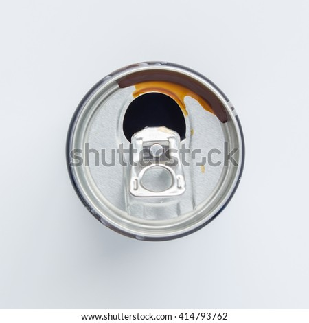 aluminium cans abstract background - stock photo