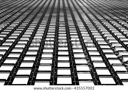 Aluminium louvers background texture.