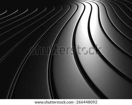 Aluminum Abstract Silver Metal Background. 3d Render Illustration - stock photo