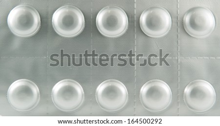 Aluminum blister pack background