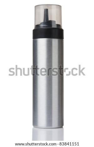 aluminum bottle isolated on white with paths - stock photo