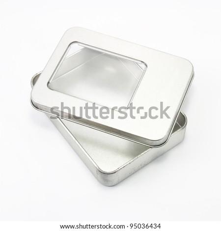 Aluminum box. - stock photo