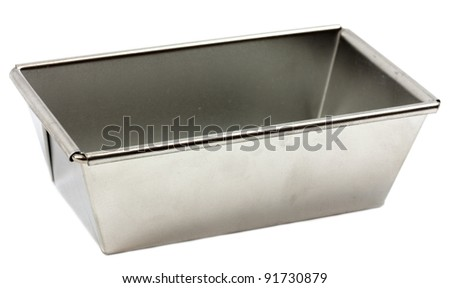 Aluminum bread form isolated on white background - stock photo
